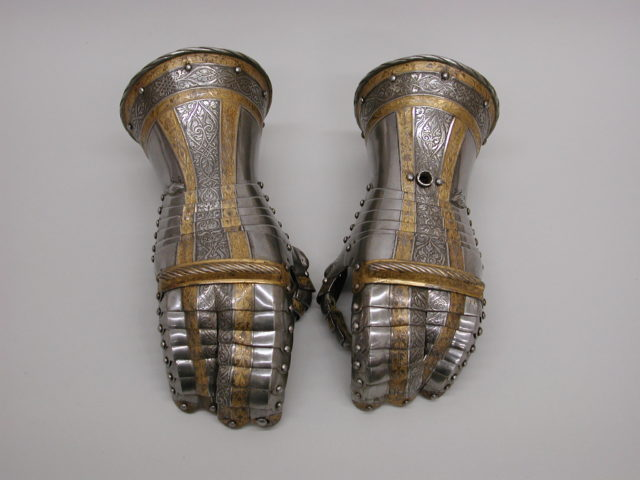 Pair of Gauntlets from a Garniture of Armor of Philip II of Spain (reigned 1554–58)