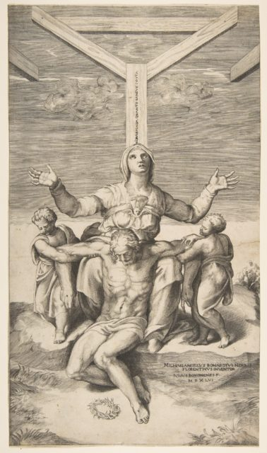 Pietà with Angels in front of the Cross