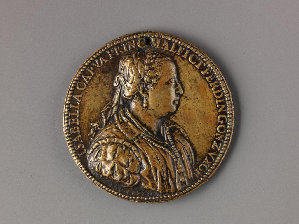 Portrait medal of Isabella di Capua