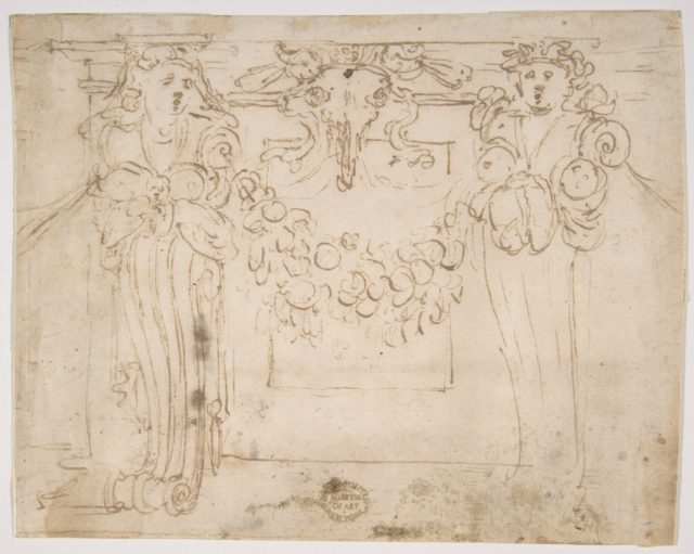 Sketch for a wall panel in the Sala Paolina at Castel Sant' Angelo, Rome