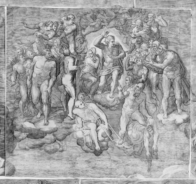 Christ as Judge Surrounded by Saints (upper central section of the Last Judgment)