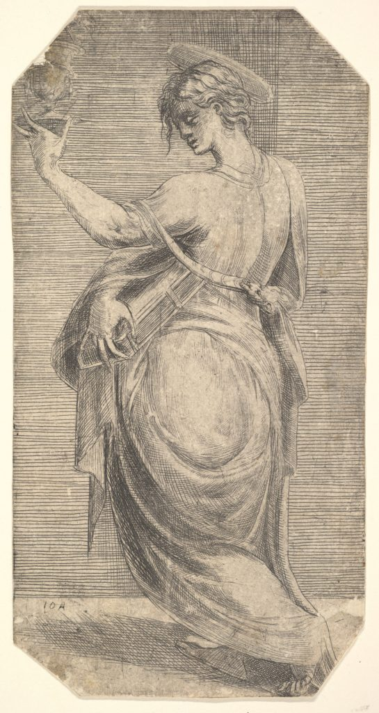 St John in profile facing left, from 'Christ and the Apostles'