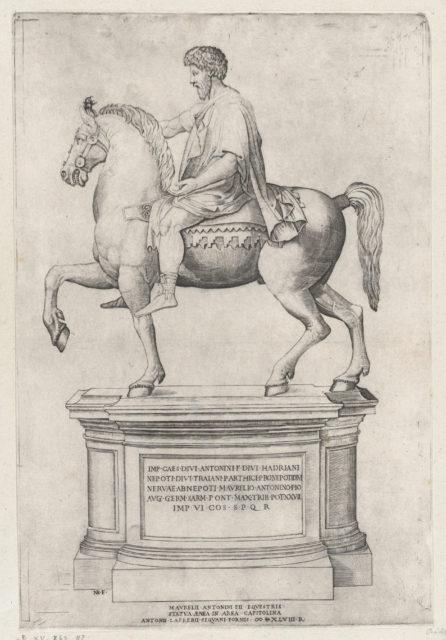 The Equestrian Statue of Marcus Aurelius on the Capitol