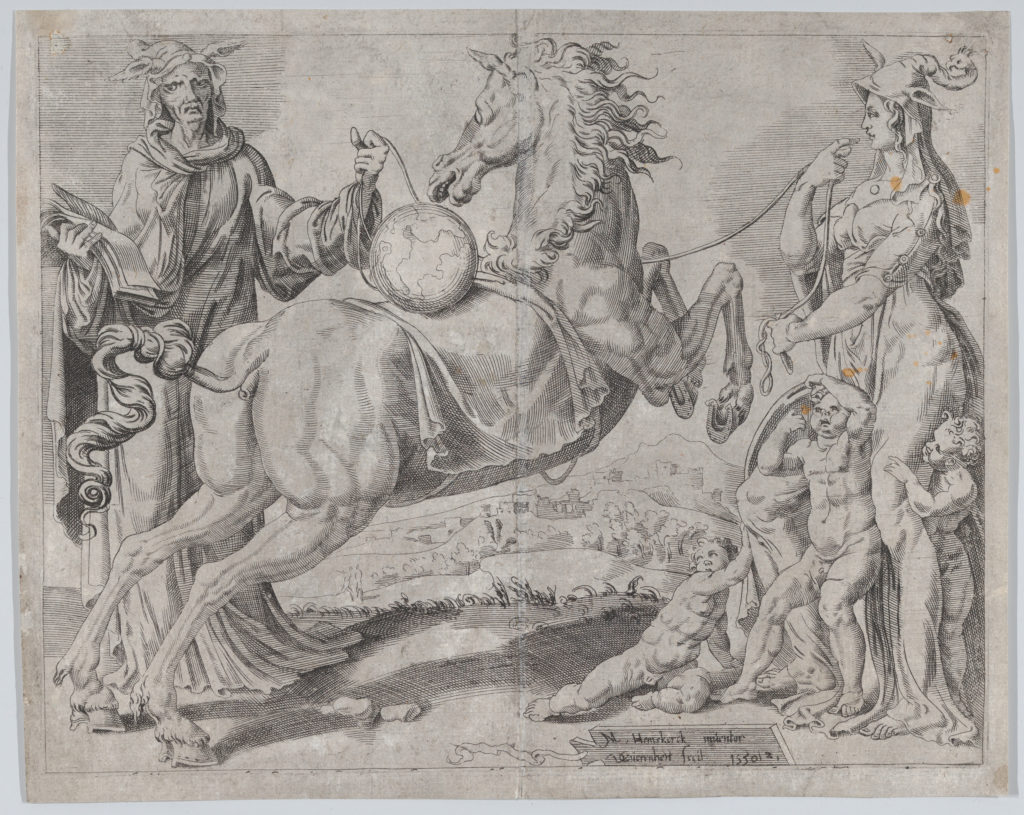 Foolish Knowledge and Foolish Love Trying to Restrain the World, from The Unrestrained World, plate 2