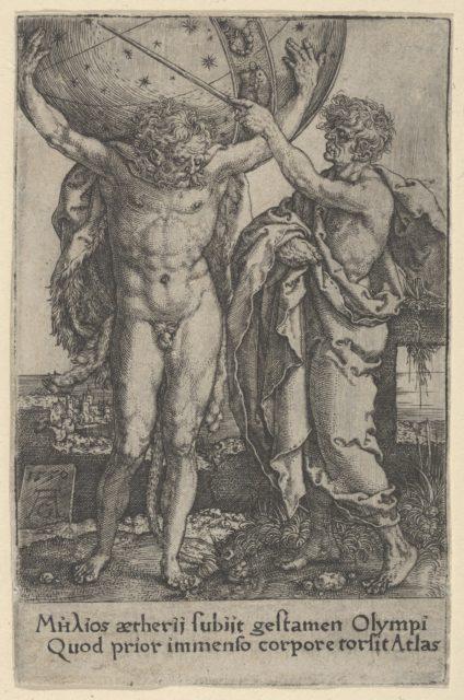 Hercules and Atlas, from The Labors of Hercules