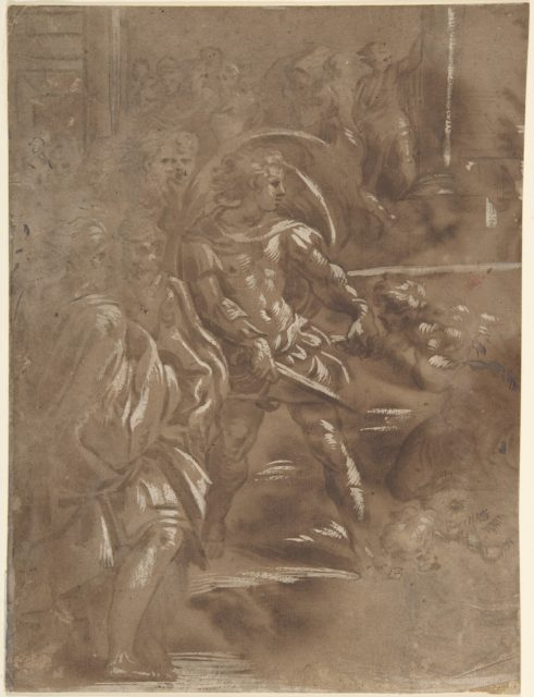Left Third of a Martyrdom of Saint Peter and Saint Paul.