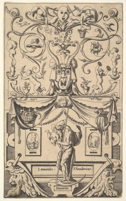 Panel with figure of Saturn, plate 1
