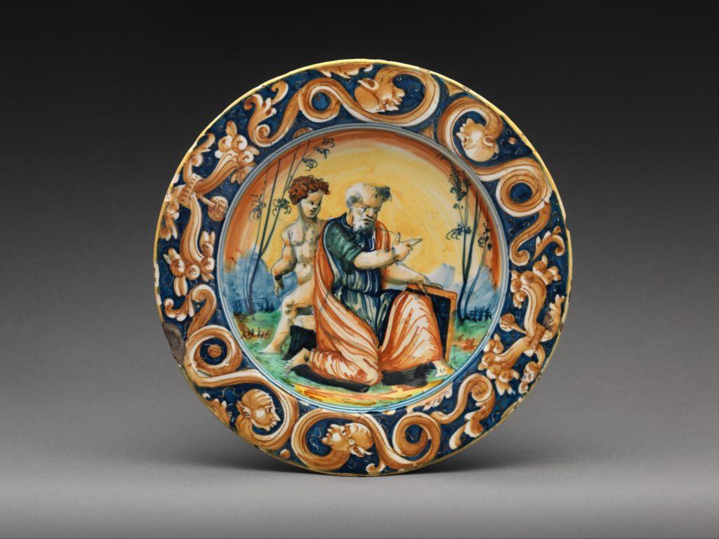 Plate with Saint Matthew
