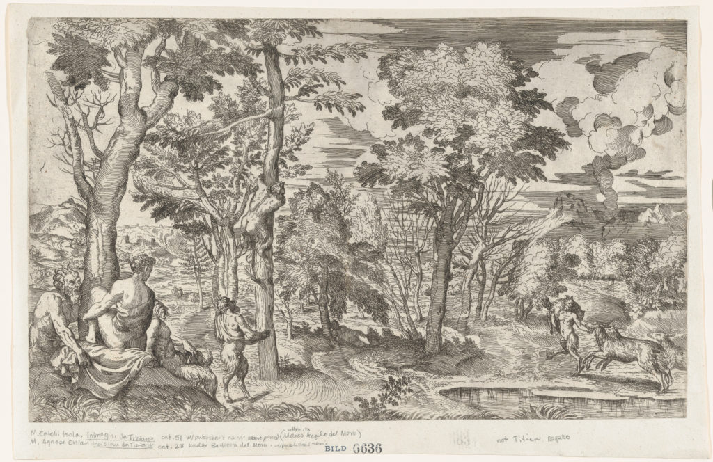 Satyrs in a Landscape (after Titian)