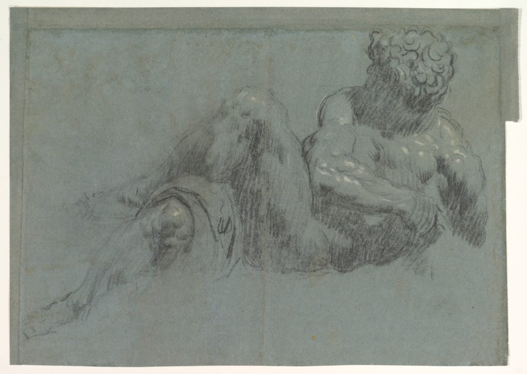 Study after Michelangelo's Giorno (recto and verso)
