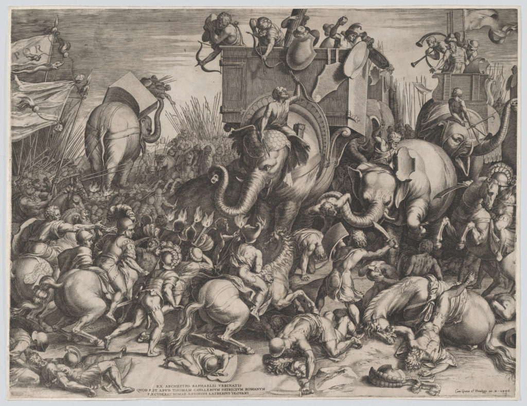 The Battle Between Scipio and Hannibal at Zama