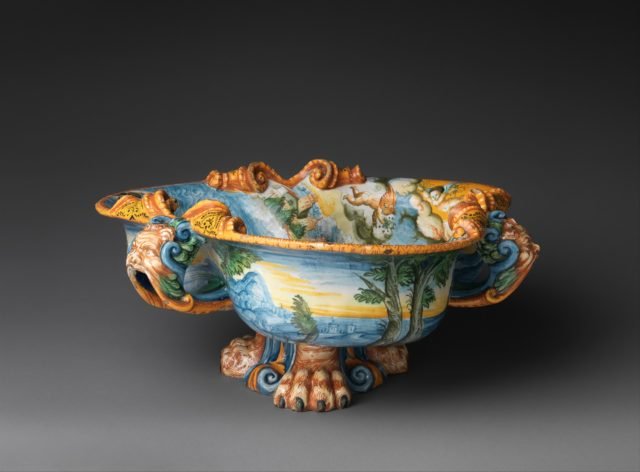 Wine cooler with A Marine Triumph of Bacchus
