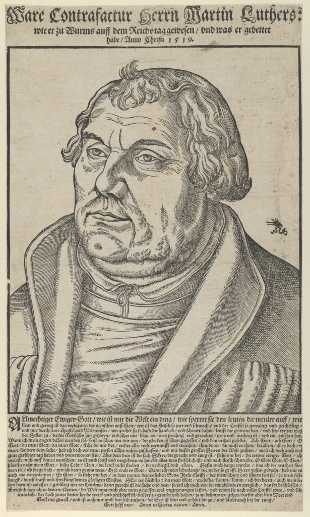 Martin Luther, Bust to the Left