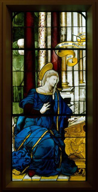 The Annunciate Virgin (one of a pair)