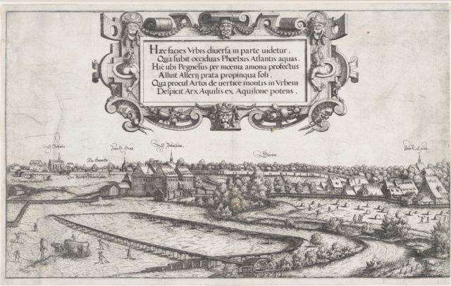 View of Nuremberg, to the West, left plate