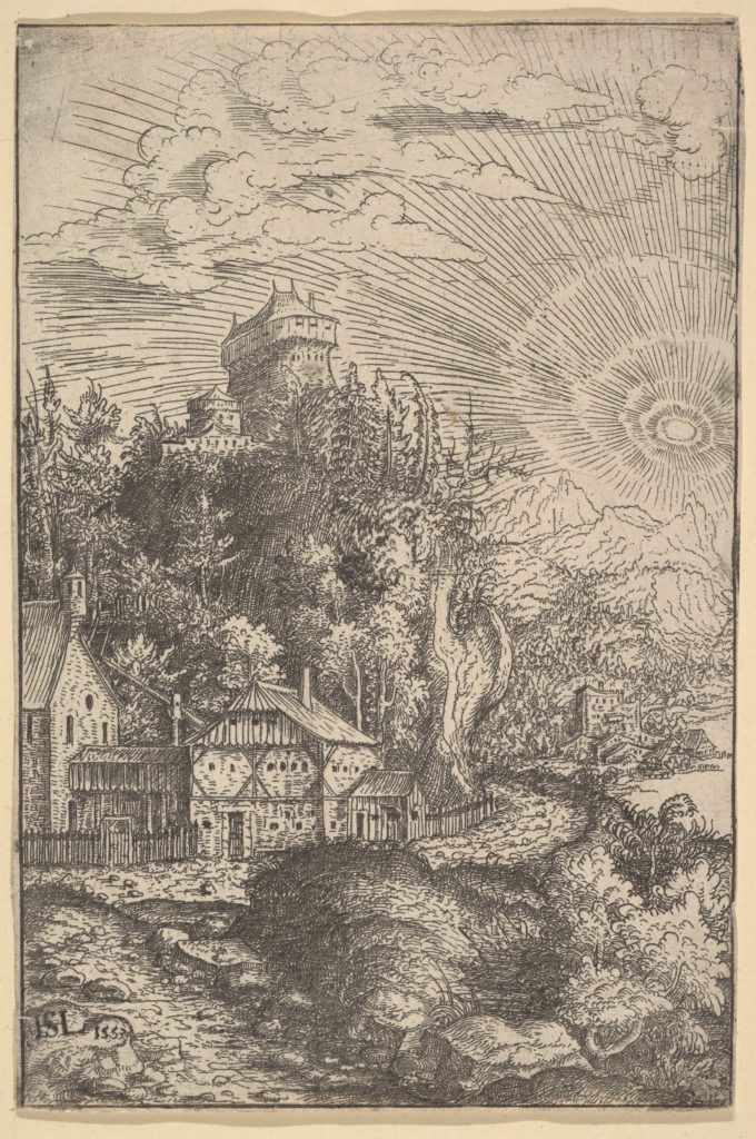 Landscape: a Fort on a Cliff