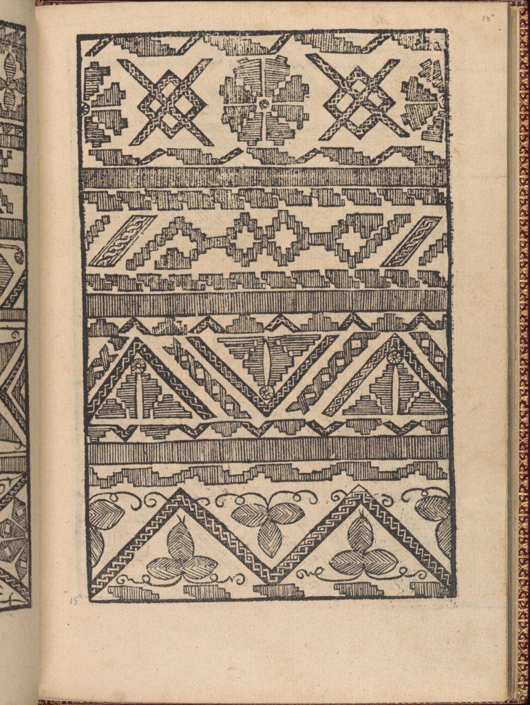 Modelbuch new, aller Art, Nehens und Stickens (page 15r)