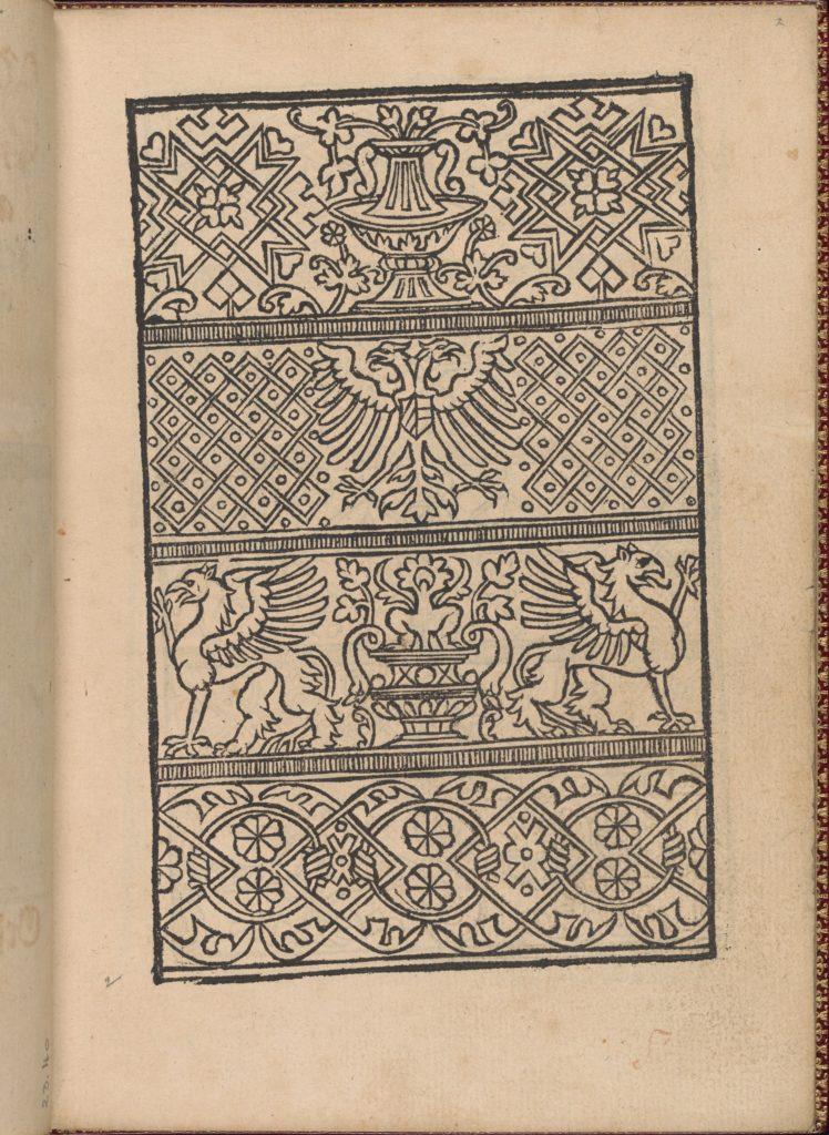 Modelbuch new, aller Art, Nehens und Stickens (page 2r)
