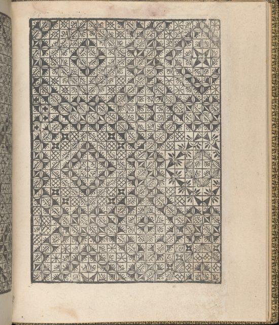 Giardineto novo di punti tagliati et gropposi per exercitio & ornamento delle donne (Venice 1554), page 18 (recto)