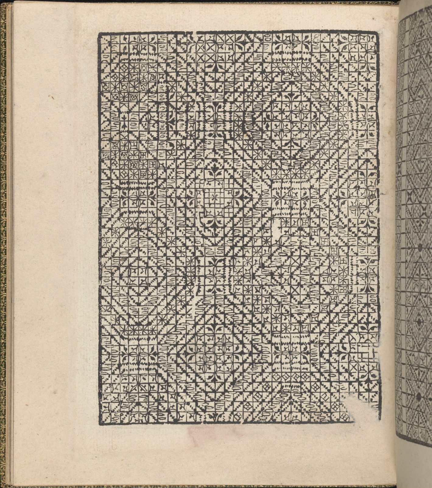 Giardineto novo di punti tagliati et gropposi per exercitio & ornamento delle donne (Venice 1554), page 22 (verso)