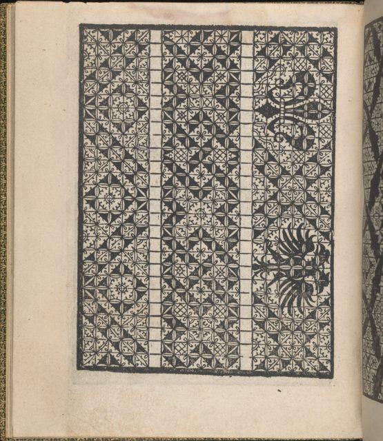 Giardineto novo di punti tagliati et gropposi per exercitio & ornamento delle donne (Venice 1554), page 19 (verso)