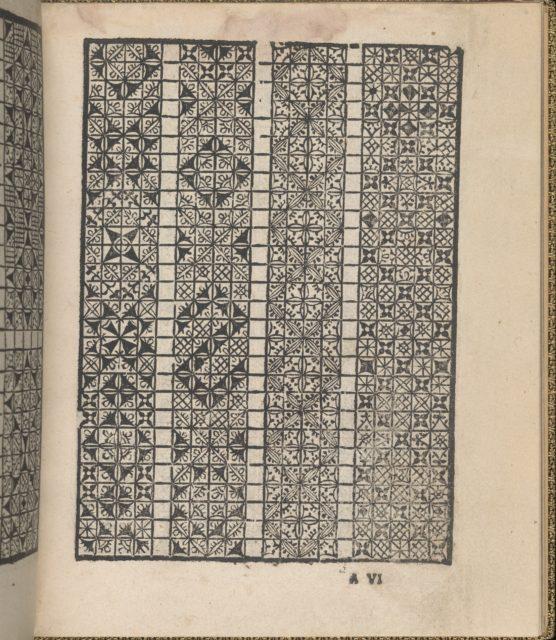Giardineto novo di punti tagliati et gropposi per exercitio & ornamento delle donne (Venice 1554), page 4 (recto)