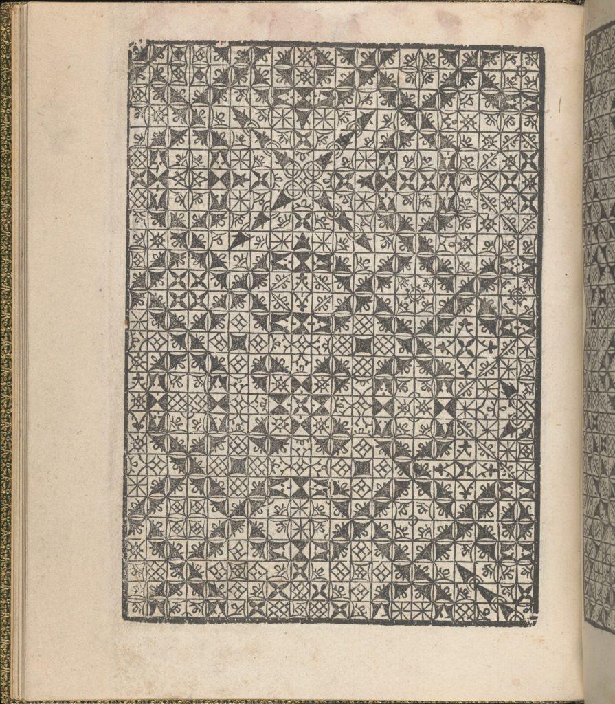 Giardineto novo di punti tagliati et gropposi per exercitio & ornamento delle donne (Venice 1554), page 17 (verso)