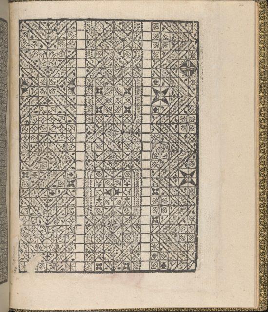 Giardineto novo di punti tagliati et gropposi per exercitio & ornamento delle donne (Venice 1554), page 12 (recto)