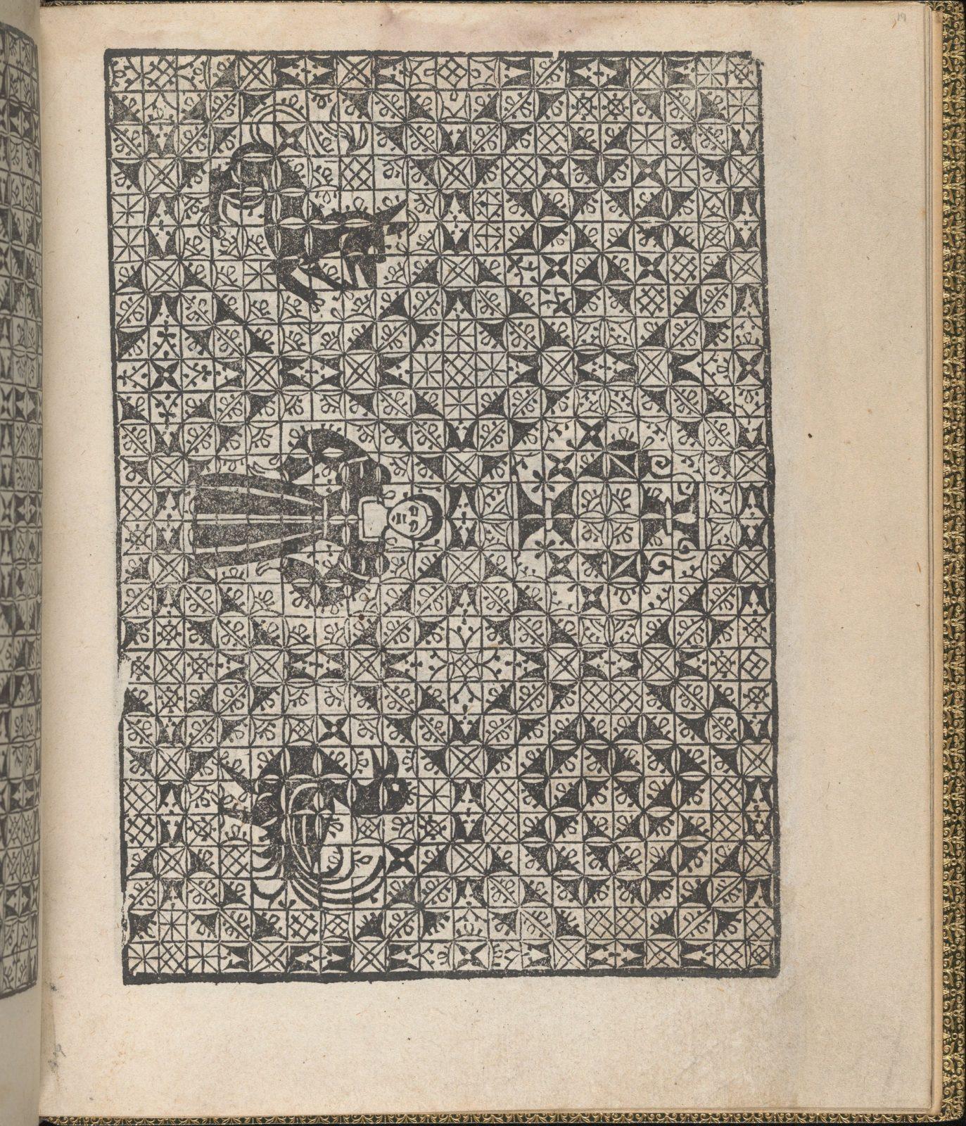 Giardineto novo di punti tagliati et gropposi per exercitio & ornamento delle donne (Venice 1554), page 10 (verso)