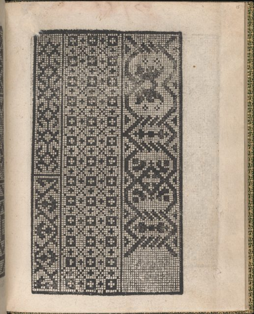 Ornamento delle belle & virtuose donne, page 15 (recto)