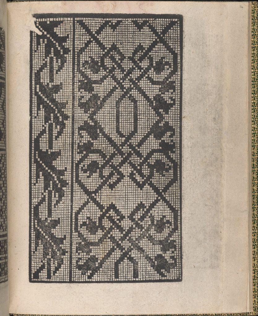 Ornamento delle belle & virtuose donne, page 16 (recto)
