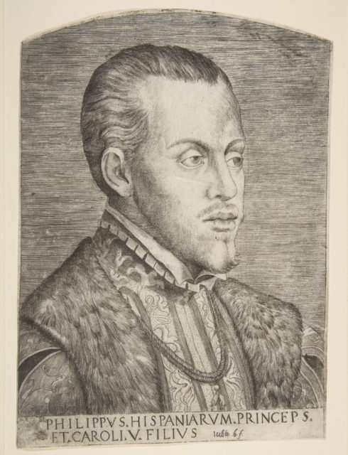 Portrait of Philip II facing right