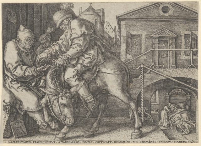 The Good Samaritan Paying the Innkeeper for the Care of the Wounded Man, from The Parable of the Good Samaritan