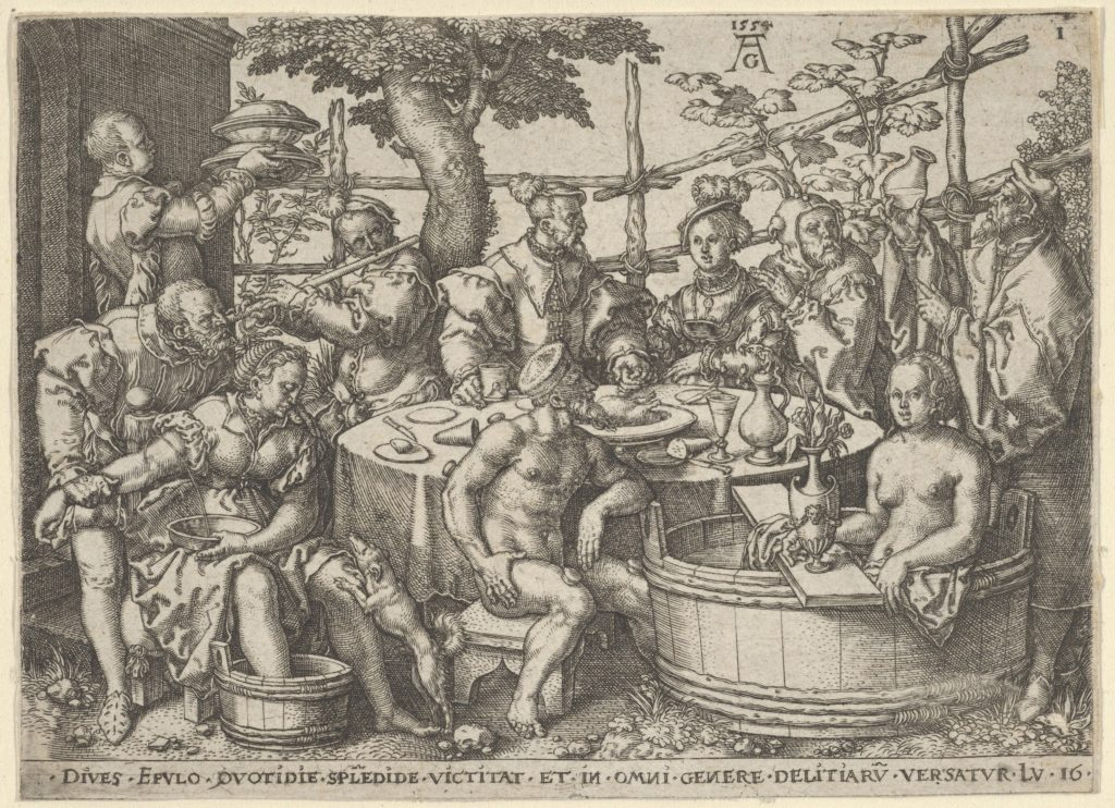 The Rich Man at His Table, from The Parable of the Rich Man and Lazarus