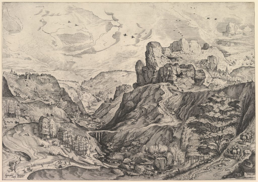 Alpine Landscape with a Deep Valley from The Large Landscapes