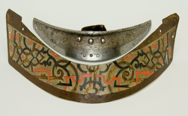 "Crinet Plate Belonging to an Armor for Field and Tournament Made for Duke Nikolaus ""The Black"" Radziwill (1515–1565), Duke of Nesvizh and Olyka, Prince of the Empire, Grand Chancellor and Marshal of Lithuaniac"