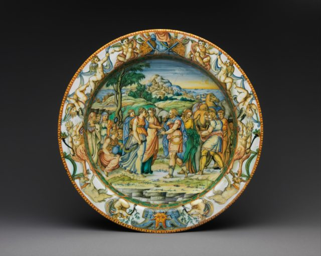 Dish with The Discovery of Achilles