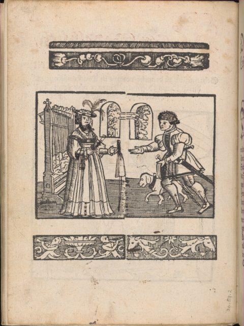 New Modelbüch allen Nägerin u. Sydenstickern (title page verso, 1v)