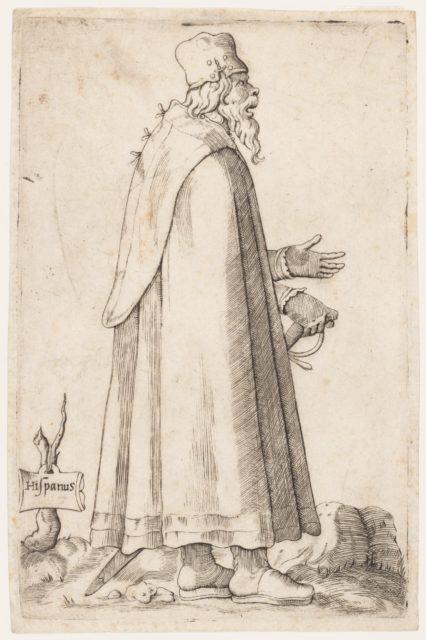 Costume Plate: Bearded Man from Spain