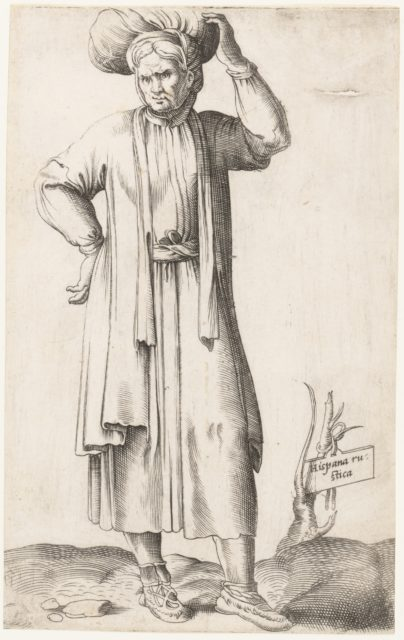 Costume Plate: Hispania Rustica (with laundry on head)