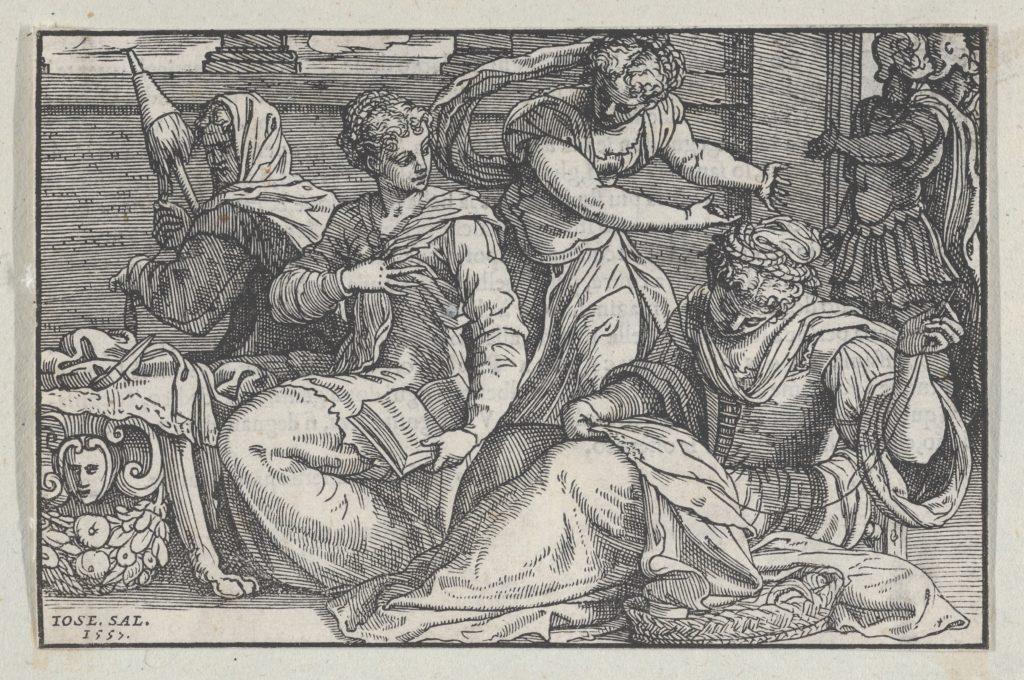 Lucretia Instructing her Daughters in Needlework