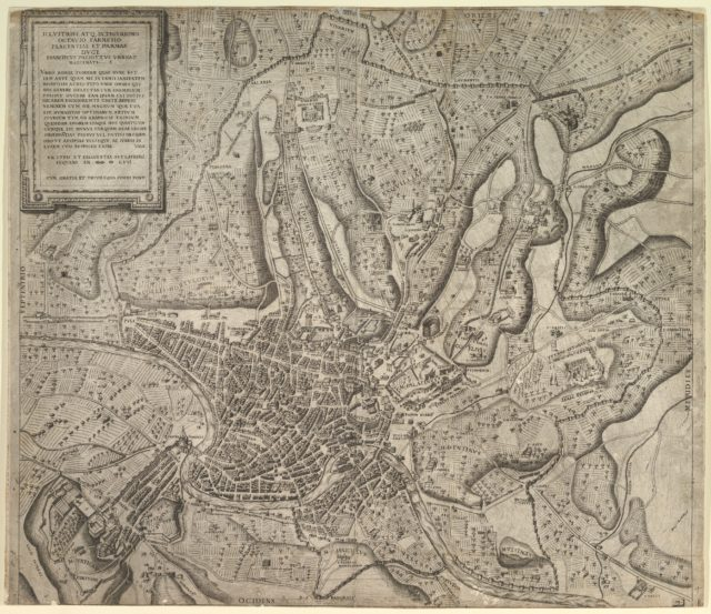 Speculum Romanae Magnificentiae: View of Rome from the West