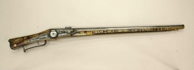 Combination Wheellock Matchlock Gun