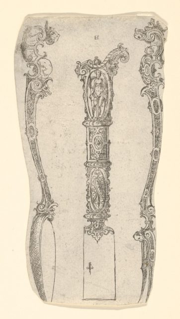 Design for a Knife, Spoon, and Fork