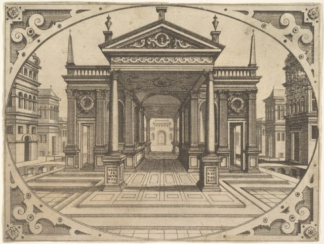 """Plate from """"Scenographiae..."""""""