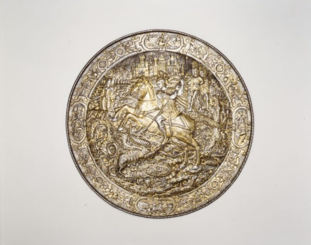 Shield Depicting Saint George Slaying the Dragon