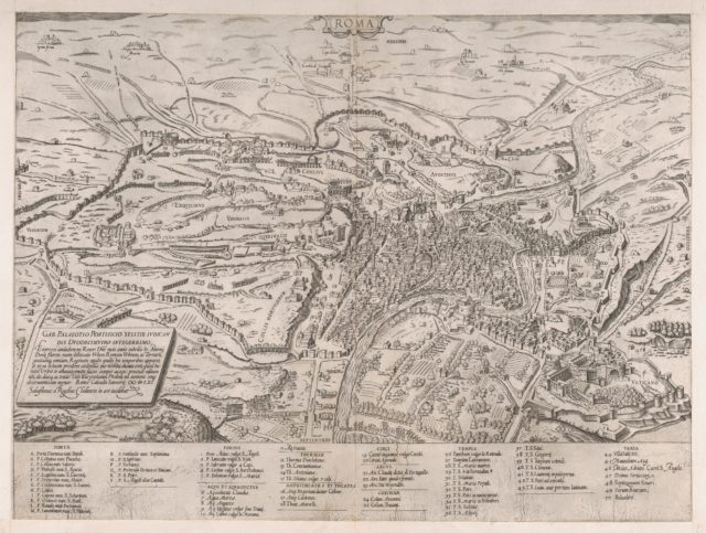 Speculum Romanae Magnificentiae: View of Rome from the North