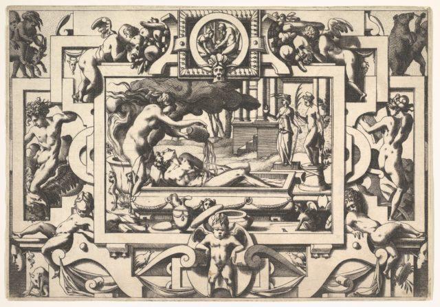 Medea pours magical potion over Jason's body: from Histoire de Jason et de la conquête de la toison d'or
