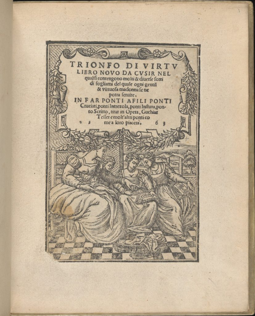 Trionfo Di Virtu. Libro Novo..., title page (recto)