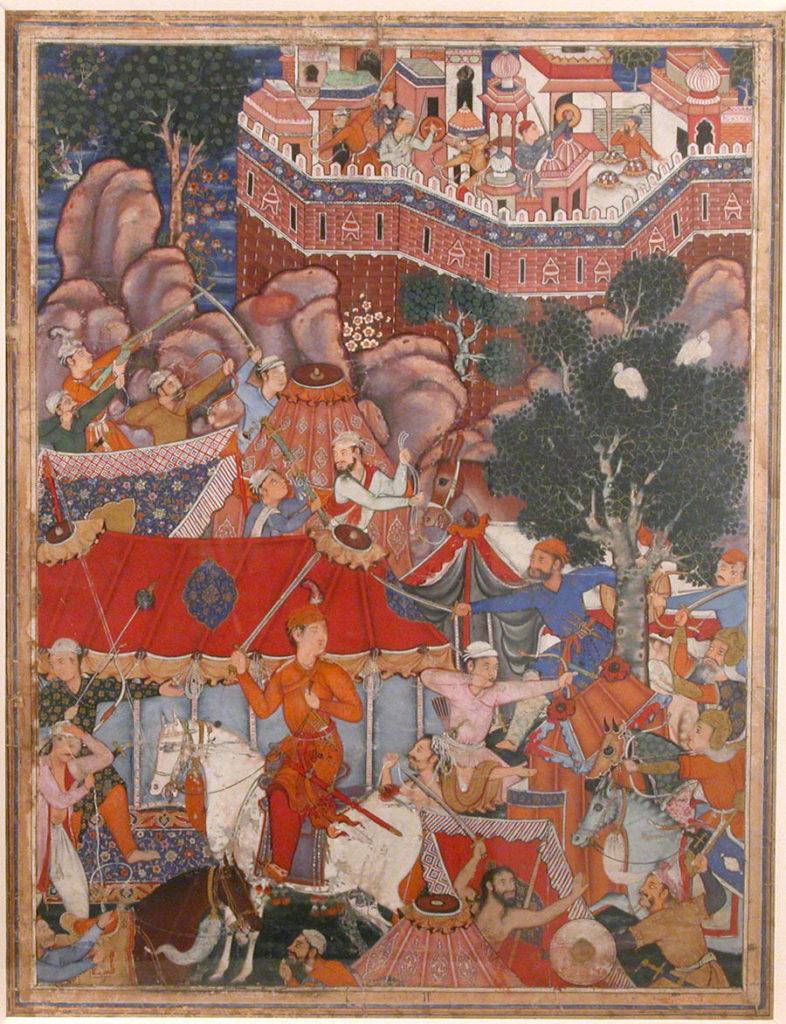 """""""Assad Ibn Kariba Launches a Night Attack on the Camp of Malik Iraj"""", Folio from a Hamzanama (The Adventures of Hamza)"""
